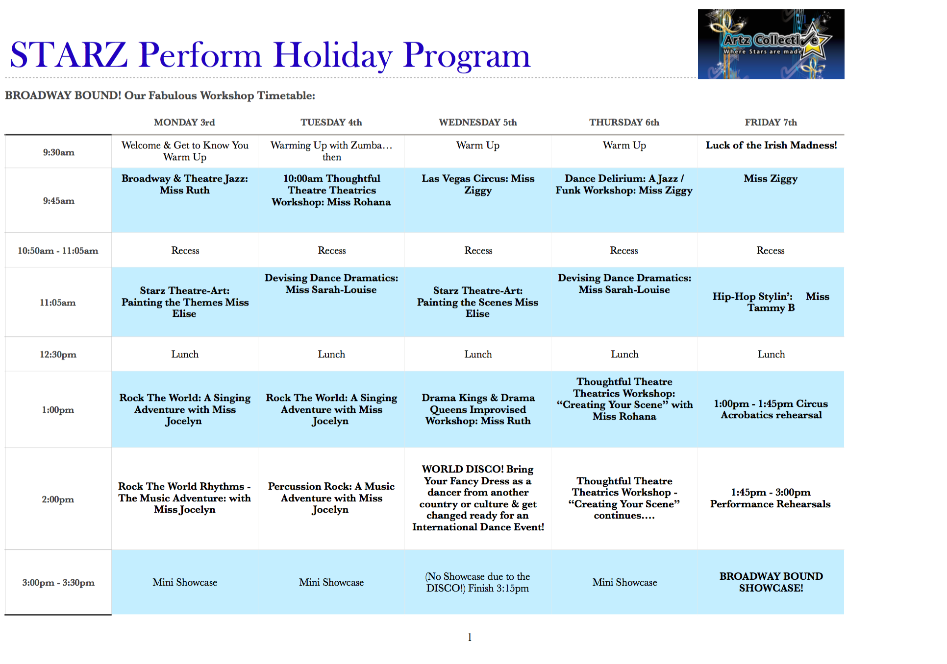Holiday Program July 17 melbourne western suburbs - Artz Collective
